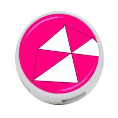 Pink White Art Kids 7000 4 Port Usb Hub (two Sides)