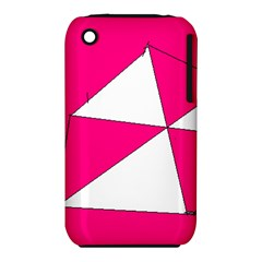 Pink White Art Kids 7000 Apple iPhone 3G/3GS Hardshell Case (PC+Silicone)