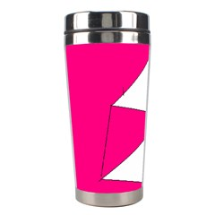 Pink White Art Kids 7000 Stainless Steel Travel Tumbler