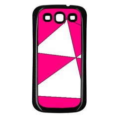 Pink White Art Kids 7000 Samsung Galaxy S3 Back Case (Black)