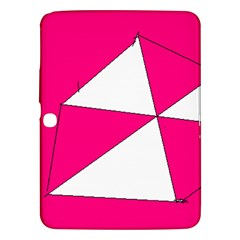 Pink White Art Kids 7000 Samsung Galaxy Tab 3 (10.1 ) P5200 Hardshell Case