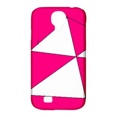 Pink White Art Kids 7000 Samsung Galaxy S4 Classic Hardshell Case (PC+Silicone)