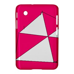 Pink White Art Kids 7000 Samsung Galaxy Tab 2 (7 ) P3100 Hardshell Case