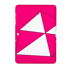Pink White Art Kids 7000 Samsung Galaxy Tab 2 (10.1 ) P5100 Hardshell Case