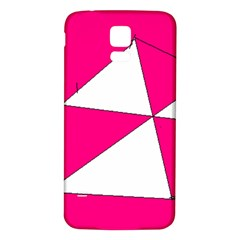 Pink White Art Kids 7000 Samsung Galaxy S5 Back Case (White)
