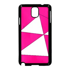 Pink White Art Kids 7000 Samsung Galaxy Note 3 Neo Hardshell Case (Black)