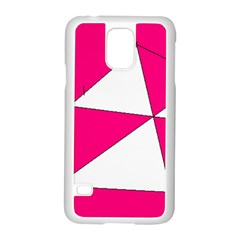 Pink White Art Kids 7000 Samsung Galaxy S5 Case (White)