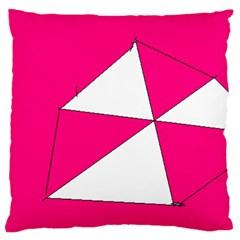 Pink White Art Kids 7000 Standard Flano Cushion Case (two Sides)