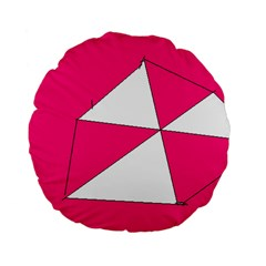 Pink White Art Kids 7000 Standard 15  Premium Flano Round Cushion