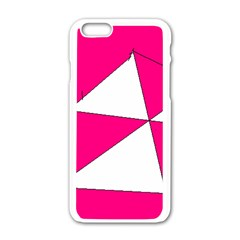 Pink White Art Kids 7000 Apple iPhone 6 White Enamel Case
