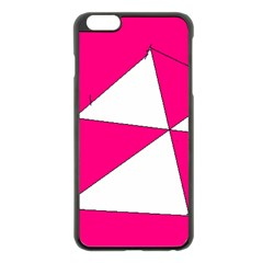 Pink White Art Kids 7000 Apple iPhone 6 Plus Black Enamel Case