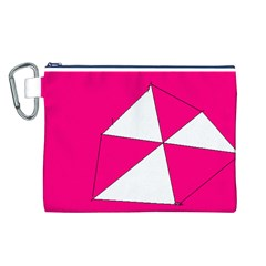 Pink White Art Kids 7000 Canvas Cosmetic Bag (large)
