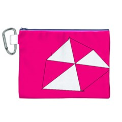 Pink White Art Kids 7000 Canvas Cosmetic Bag (XL)