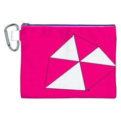 Pink White Art Kids 7000 Canvas Cosmetic Bag (XXL)