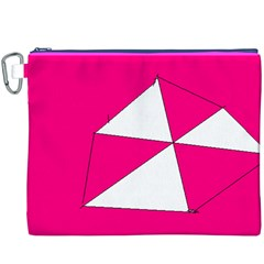 Pink White Art Kids 7000 Canvas Cosmetic Bag (XXXL)