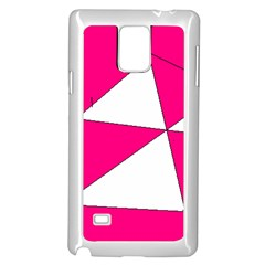 Pink White Art Kids 7000 Samsung Galaxy Note 4 Case (White)