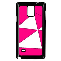 Pink White Art Kids 7000 Samsung Galaxy Note 4 Case (Black)