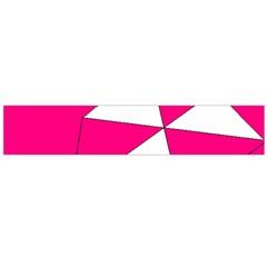 Pink White Art Kids 7000 Flano Scarf (large)