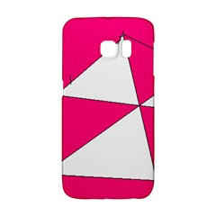 Pink White Art Kids 7000 Samsung Galaxy S6 Edge Hardshell Case