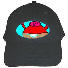 Sweet Pig Knoremans, Art by Kids Black Baseball Cap