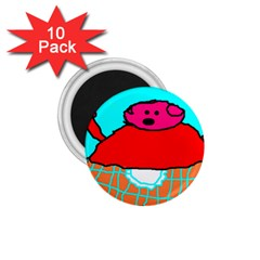 Sweet Pig Knoremans, Art By Kids 1 75  Button Magnet (10 Pack)
