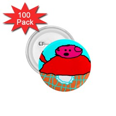 Sweet Pig Knoremans, Art by Kids 1.75  Button (100 pack)