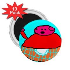 Sweet Pig Knoremans, Art By Kids 2 25  Button Magnet (10 Pack)