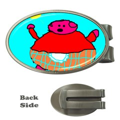 Sweet Pig Knoremans, Art By Kids Money Clip (oval)