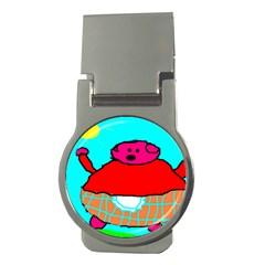 Sweet Pig Knoremans, Art By Kids Money Clip (round)