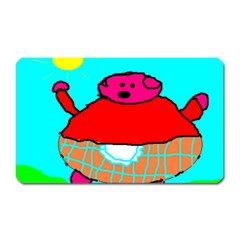 Sweet Pig Knoremans, Art By Kids Magnet (rectangular)
