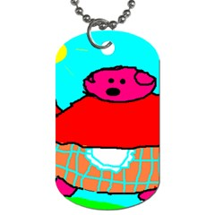 Sweet Pig Knoremans, Art By Kids Dog Tag (one Sided)