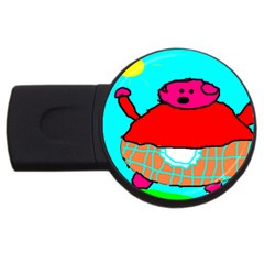 Sweet Pig Knoremans, Art By Kids 2gb Usb Flash Drive (round)