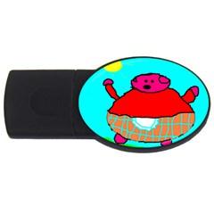 Sweet Pig Knoremans, Art By Kids 2gb Usb Flash Drive (oval)
