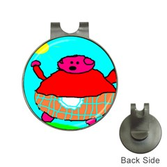 Sweet Pig Knoremans, Art By Kids Hat Clip With Golf Ball Marker