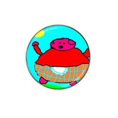Sweet Pig Knoremans, Art By Kids Golf Ball Marker 4 Pack (for Hat Clip)