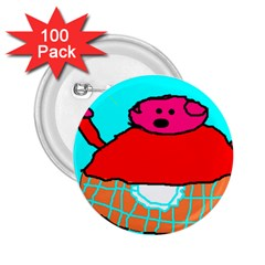 Sweet Pig Knoremans, Art By Kids 2 25  Button (100 Pack)