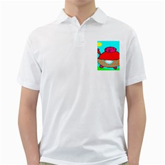 Sweet Pig Knoremans, Art By Kids Men s Polo Shirt (white)