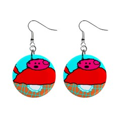 Sweet Pig Knoremans, Art By Kids Mini Button Earrings