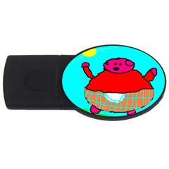 Sweet Pig Knoremans, Art By Kids 2gb Usb Flash Drive (oval)