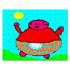 Sweet Pig Knoremans, Art By Kids Jigsaw Puzzle (rectangle)