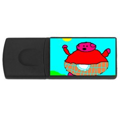 Sweet Pig Knoremans, Art By Kids 4gb Usb Flash Drive (rectangle)