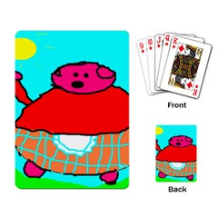 Sweet Pig Knoremans, Art By Kids Playing Cards Single Design