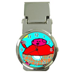 Sweet Pig Knoremans, Art By Kids Money Clip With Watch