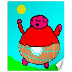 Sweet Pig Knoremans, Art By Kids Canvas 16  X 20  (unframed)