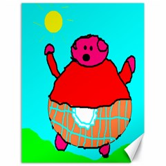 Sweet Pig Knoremans, Art by Kids Canvas 18  x 24  (Unframed)