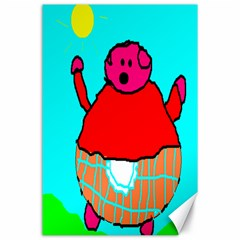 Sweet Pig Knoremans, Art By Kids Canvas 24  X 36  (unframed)