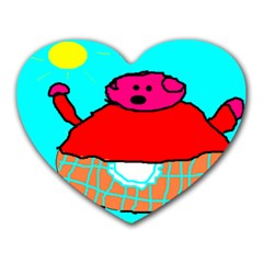 Sweet Pig Knoremans, Art By Kids Mouse Pad (heart)
