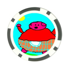 Sweet Pig Knoremans, Art By Kids Poker Chip