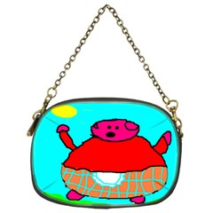 Sweet Pig Knoremans, Art By Kids Chain Purse (one Side)