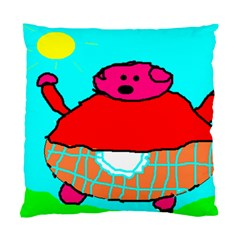 Sweet Pig Knoremans, Art By Kids Cushion Case (single Sided)